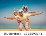 happy family on summer vacation.... | Shutterstock . vector #1328693141