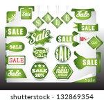 green bio sale labels set | Shutterstock .eps vector #132869354