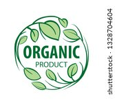 vector sign organic product on... | Shutterstock .eps vector #1328704604