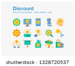 discount icons set. ui pixel...