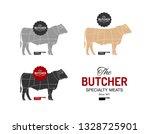 beef cow butcher meat shop... | Shutterstock .eps vector #1328725901