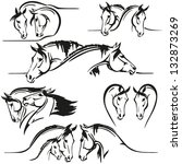 Six Horse's Heads Compositions...