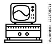 tv icon vector illustration in...
