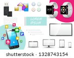 realistic digital devices... | Shutterstock .eps vector #1328743154
