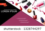 realistic nail lacquer... | Shutterstock .eps vector #1328744297