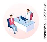 doctor and patient concept.... | Shutterstock .eps vector #1328744354