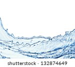 Blue Water Splash Isolated On...