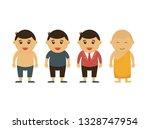 thailand man go to buddha | Shutterstock .eps vector #1328747954
