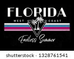 Florida beach vector illustration for t-shirt and other uses.