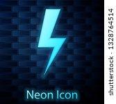 glowing neon lightning bolt... | Shutterstock .eps vector #1328764514