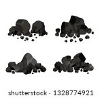pile of charcoal  coal | Shutterstock .eps vector #1328774921