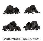 pile of charcoal  coal | Shutterstock .eps vector #1328774924