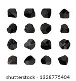 collection of charcoal coal | Shutterstock .eps vector #1328775404