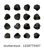 collection of charcoal coal | Shutterstock .eps vector #1328775407