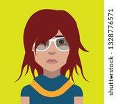 girl avatar icon | Shutterstock .eps vector #1328776571