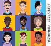 avatars  vector illustration of ... | Shutterstock .eps vector #1328776574