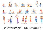 mother and child set.... | Shutterstock .eps vector #1328790617