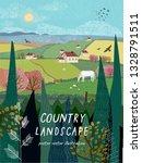 vector illustration of a rural... | Shutterstock .eps vector #1328791511