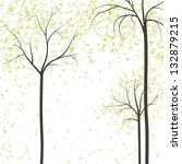 spring trees  rasterized vector....   Shutterstock . vector #132879215