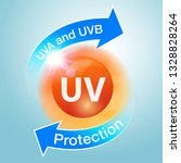 uv protection icons are used to ... | Shutterstock .eps vector #1328828264