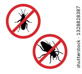 silhouette of cockroachin... | Shutterstock .eps vector #1328828387