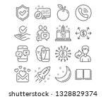 set of dating chat  approved... | Shutterstock .eps vector #1328829374
