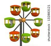 ferris wheel at a county fair...   Shutterstock . vector #132883121