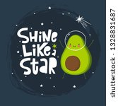 cute cartoon print with avocado ... | Shutterstock .eps vector #1328831687