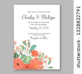 anemone wedding invitation card ... | Shutterstock .eps vector #1328832791