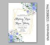 anemone blue  wedding... | Shutterstock .eps vector #1328832794