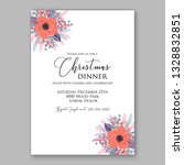 anemone pink poppy greenery... | Shutterstock .eps vector #1328832851