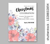 anemone pink poppy greenery... | Shutterstock .eps vector #1328832854
