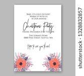 anemone pink poppy greenery... | Shutterstock .eps vector #1328832857