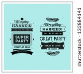 wedding stamps typography | Shutterstock . vector #132884141