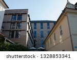 apartment building in the... | Shutterstock . vector #1328853341