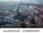 top view of streets and... | Shutterstock . vector #1328853344