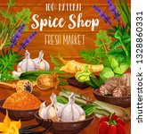 condiment herbs  spices and... | Shutterstock .eps vector #1328860331