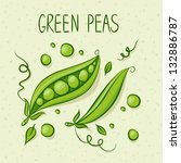 green peas with text above.... | Shutterstock .eps vector #132886787