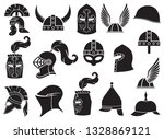 military helmets vector icons...