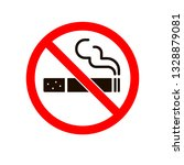no smoking sign. smoke vector... | Shutterstock .eps vector #1328879081