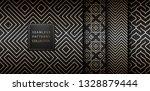 geometric seamless golden... | Shutterstock .eps vector #1328879444