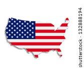 illustration. the american flag ... | Shutterstock . vector #132888194