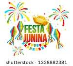 festa junina   text in... | Shutterstock . vector #1328882381