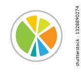 colorful business pie chart for ...   Shutterstock .eps vector #1328890274