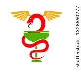 pharmacy logo   snake icon ... | Shutterstock .eps vector #1328890277