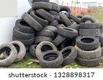 heap of old used black car... | Shutterstock . vector #1328898317