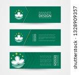 set of three horizontal banners ... | Shutterstock .eps vector #1328909357