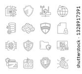 gdpr privacy policy icon set.... | Shutterstock .eps vector #1328917391