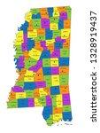 colorful mississippi political... | Shutterstock .eps vector #1328919437