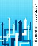 financial arrow graphs on a... | Shutterstock .eps vector #1328922737